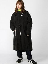 X-girl HOODED PUFFER COAT エックスガール コート/ジャケット モッズコート ブラック カーキ レッド ホワイト【送料無料】