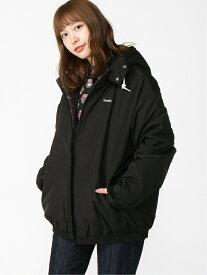 X-girl HOODED PUFFER JUMPER エックスガール コート/ジャケット ブルゾン ブラック カーキ レッド ホワイト【送料無料】