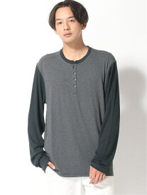 【SALE/79%OFF】GUESS (M)LS ARCANA HENLEY ゲス カットソー カットソーその他 グレー ブラック レッド