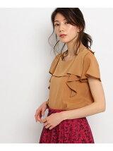 ホルターネック&ラッフル袖シャツ