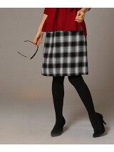 ガーゼチェック台形スカート