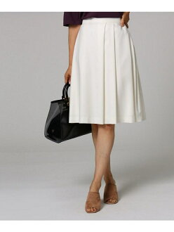UNTITLED knee length twill tax cart Ann title skirt skirt and others white yellow beige navy