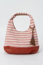 (L)ラインボーダーバルーンバッグ