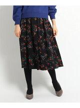 【WEB限定カラーあり】シックフラワースカート
