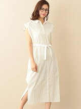 【RELDI】STRIPECLERICSHIRTDRESS