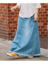 【SALE/40%OFF】Munich 8ozデニムマキシフレアロングスカート ミューニック スカート デニムスカート ブルー ネイビ…