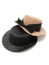 バックリボンカンカン帽