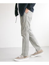 check slim trouser