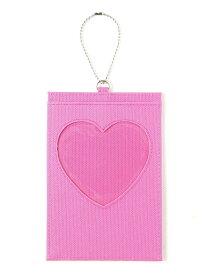 WEGO (L)ハートウィンドウポストカードケース ウィゴー 財布/小物 パスケース/カードケース パープル ピンク イエロー オレンジ グリーン ブルー ブラック ホワイト レッド