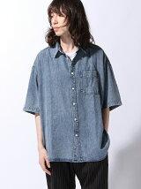 (M)ケミカルデニムBIGシャツ