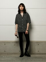 【BROWNY VIN】(M)ケミカルデニムBIGシャツ