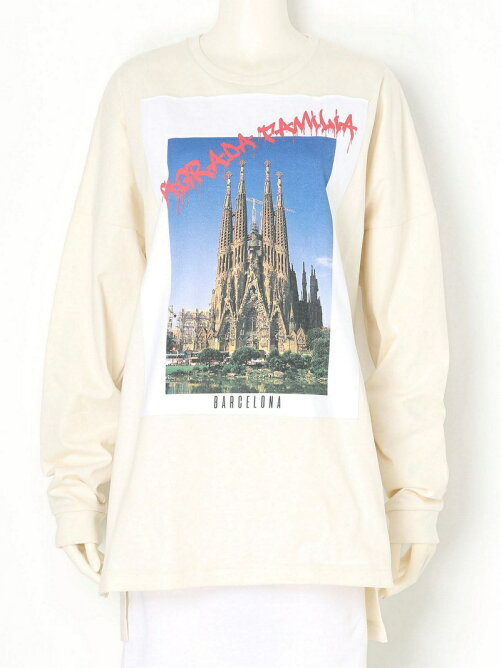 SAGRADA FAMILIA POSTCARD LONG T-SHIRTS