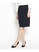 フロントタックストレッチタイトスカート