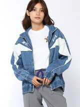 DENIM WINDBREAKER JACKET