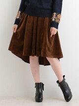 ベロア膝丈スカート