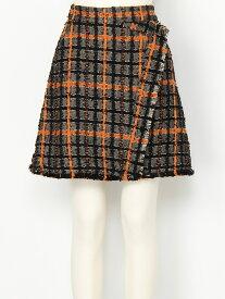 【SALE/45%OFF】SNIDEL ジャガードチェックミニスカート スナイデル スカート ミニスカート ブラック オレンジ【送料無料】