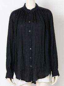 pas de calais ラミーテンセルシャツ パドカレ シャツ/ブラウス 長袖シャツ ブラック ホワイト グレー【送料無料】