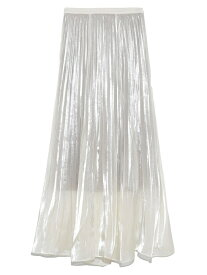 【SALE/30%OFF】SNIDEL シアープリーツスカート スナイデル スカート ロングスカート ホワイト ピンク【送料無料】