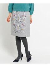 オリジナル刺繍ウールスカート
