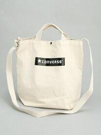 【SALE/50%OFF】CONVERSE CONVERSE/(U)CV_BLB_2WAY TOTE BAG ハンドサイン バッグ トートバッグ ホワイト ブラック レッド