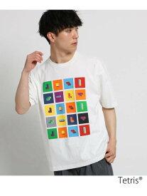 【SALE/40%OFF】THE SHOP TK Tetris(R)Tシャツ ザ ショップ ティーケー カットソー Tシャツ ホワイト ブラック