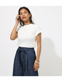 【SALE/25%OFF】AZUL by moussy FRIESクルーネックTシャツ アズールバイマウジー カットソー カットソーその他 ホワイト ブラック イエロー ブラウン