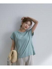 ViS 【vis-`a-vis】フレンチスリーブロゴTシャツ ビス カットソー カットソーその他 グリーン ブラック ホワイト ピンク