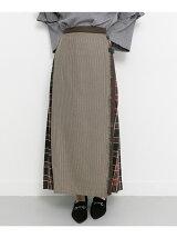 MIXチェックラップスカート