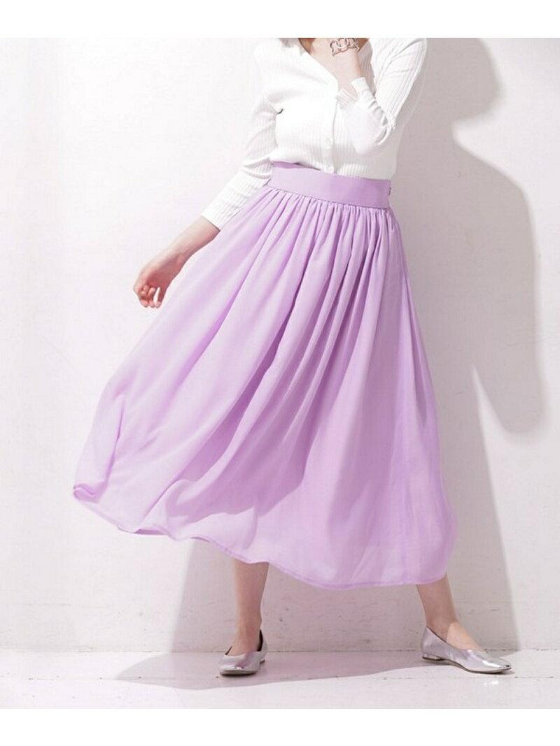 【SALE/10%OFF】シアーギャザースカート ナノユニバース スカート【RBA_S】【RBA_E】【先行予約】*【送料無料】
