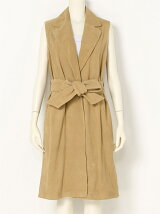 Sleeveless Suede Coat