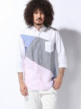 (M)オックスバイヤスブロッキングBDシャツ