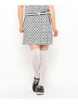 ADロゴプリント変形プリーツジャージスカート