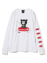 【SPECIAL PRICE】The Wonderful! design works. / Fishing Bear Long Sleeve Tee Bear BEAMS ビームス