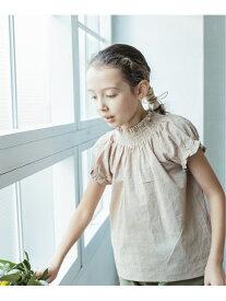 pairmanon ドット刺繍 無地 シャーリング デザイン 半袖 ブラウス Tシャツ ペアマノン シャツ/ブラウス シャツ/ブラウスその他 ベージュ ブラック ホワイト グリーン ピンク