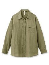 [L]綿麻フォレスタローンシャツ