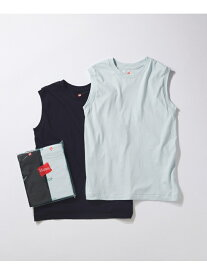 ADAM ET ROPE' 【Hanes for BIOTOP】Sleeveless T-Shirts(カラー) アダムエロペ カットソー カットソーその他 ブラウン ブルー【送料無料】