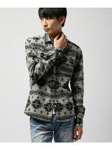 [VJS1221]ネイティブ柄 ウエスタンネルシャツ