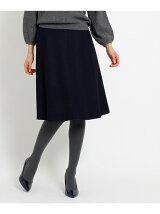 ◆圧縮ウールフレアスカート