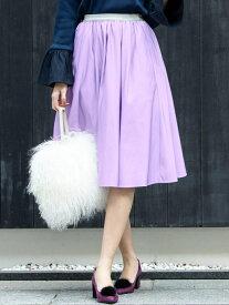 【SALE/70%OFF】Viaggio Blu Newグログランフレアスカート ビアッジョブルー スカート スカートその他 パープル ネイビー グリーン【送料無料】
