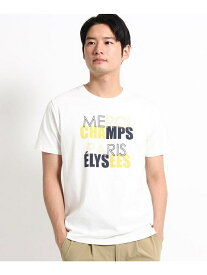 【SALE/40%OFF】THE SHOP TK カラーロゴプリントTシャツ ザ ショップ ティーケー カットソー Tシャツ ホワイト
