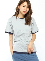 WEST SHORE/(U)real layered 2in1 Tee
