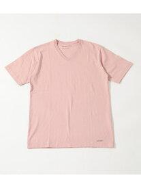 【SALE/30%OFF】AZUL by moussy 《8月7日まで期間限定価格》HEAVYWEIGHTVネックT-SHIRT アズールバイマウジー カットソー カットソーその他 ピンク ホワイト ブラック カーキ