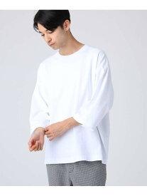 【SALE/60%OFF】tk.TAKEO KIKUCHI 天竺ビッグシルエットTシャツ(8分袖) ティーケータケオキクチ カットソー Tシャツ ホワイト ブラック ベージュ