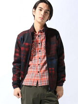 (M)Check Patchwork Fleece Jacke