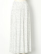 ランダムドットプリント フレアースカート