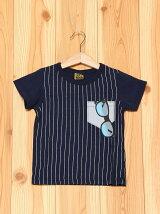 L.COPECK/(K)エルコベック ピンストライブサングラスTシャツ