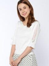 袖リボン装飾プルオーバ