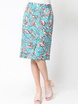 オリーブプリントタイトスカート