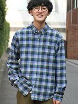 ネルチェックシャツ1