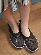 (W)UBERKNIT SLIP ON BALLERINA WITH BOW